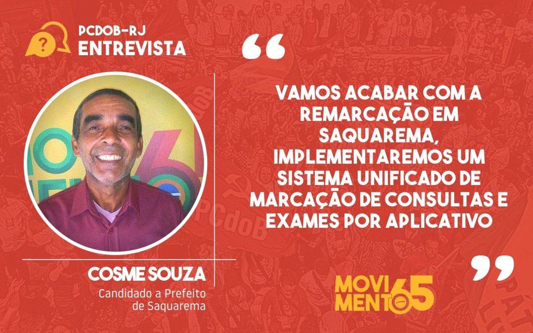 """Cosme Souza: """"Resolvi me candidatar para melhorar a qualidade de vida da população de Saquarema"""""""