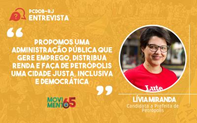 """Lívia Miranda: """"a Educação é um pilar do nosso programa"""""""