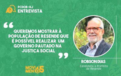 """Robson Dias: """"Entendemos a necessidade de uma frente progressista no município"""""""